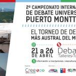 Afiche 2º torneo de debate universitario Puerto Montt 2015